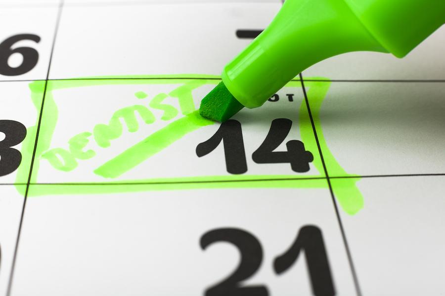 Calendar dentist appointment