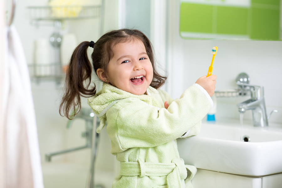 Having fun whilst taking care of child oral hygiene